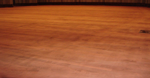 Irvine Auditorium Wood Floor Refinishing
